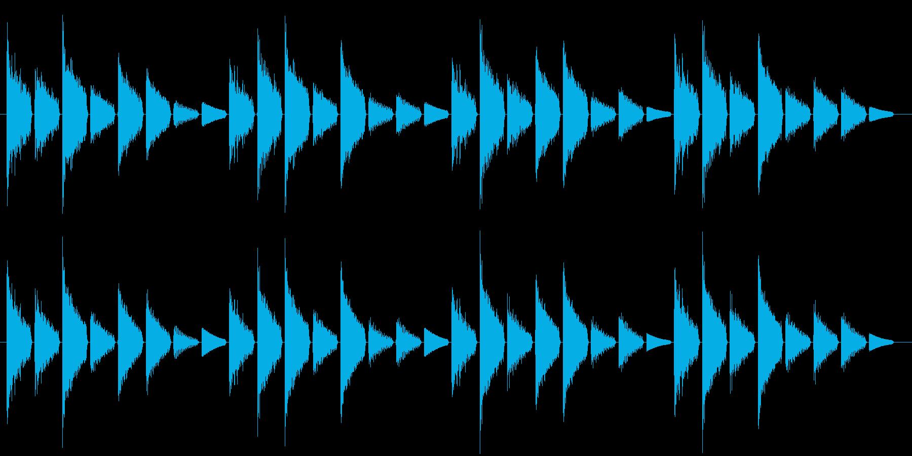 危険を知らせるアラート音(警戒度:低)の再生済みの波形