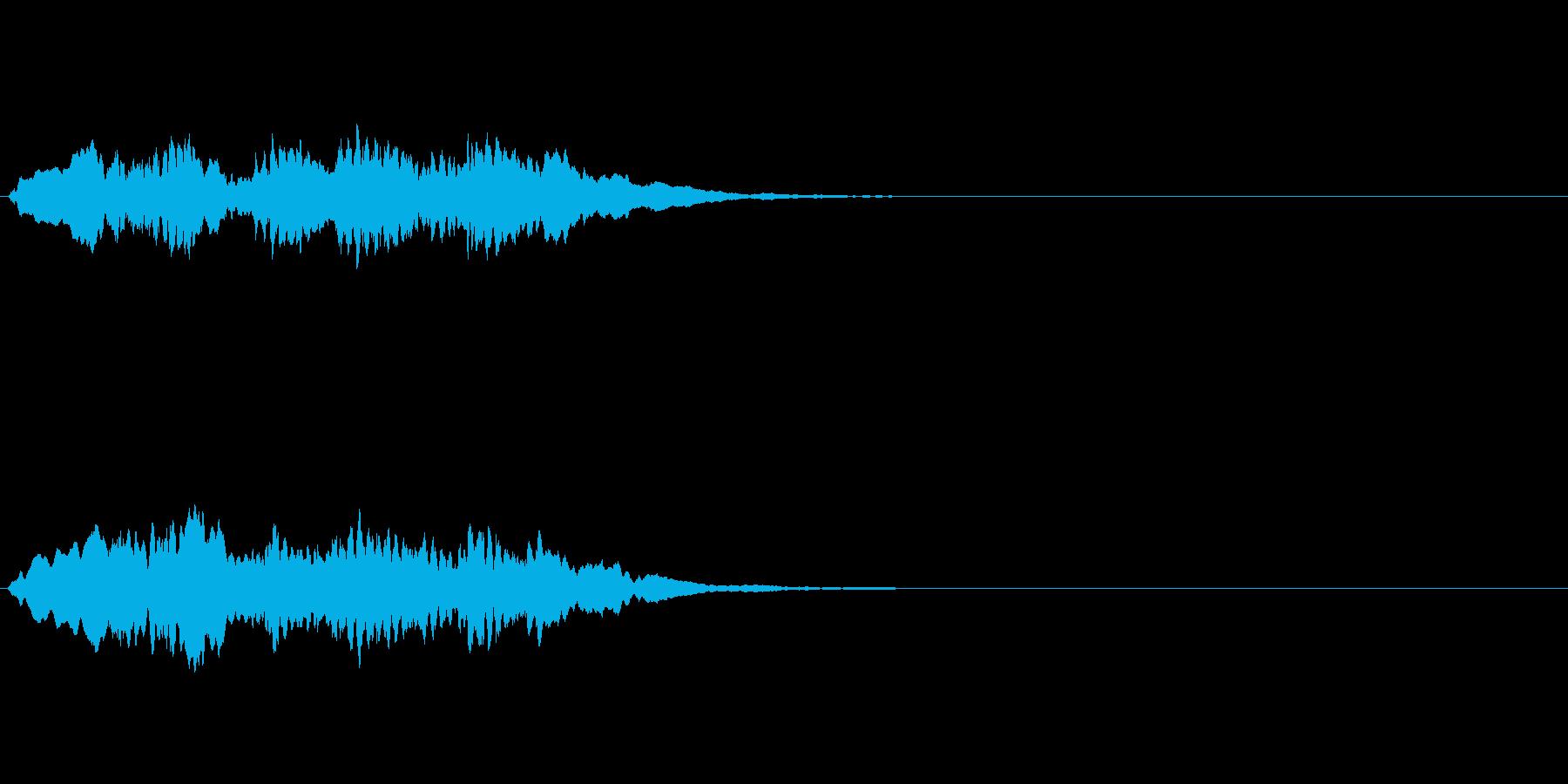 正解音や効果音。てぃろりろりん♪の再生済みの波形