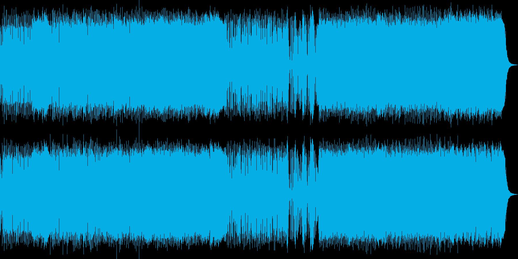 歌謡テイストの男前ロックの再生済みの波形