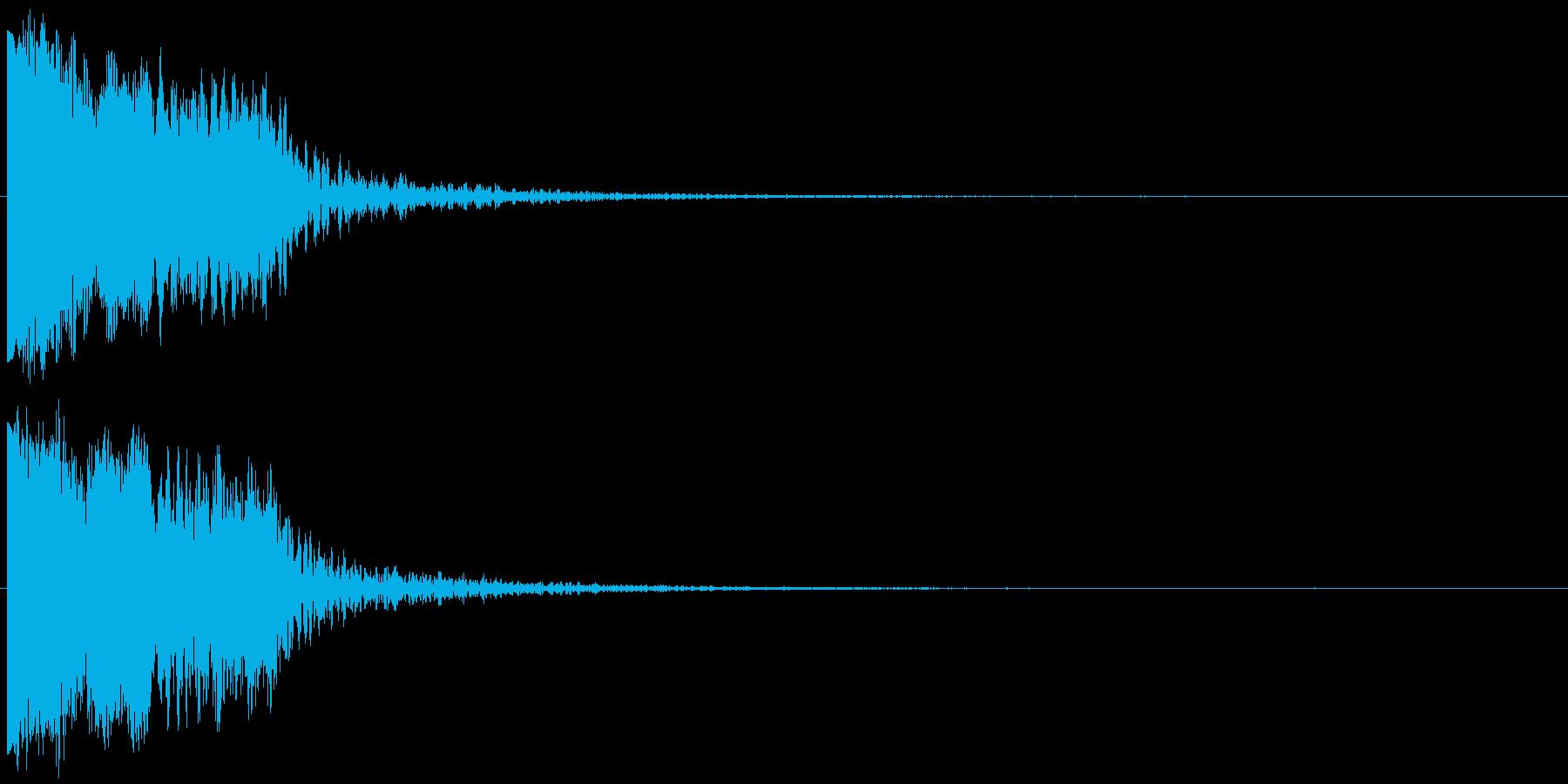 ピヒュオーン ピピョーン クリック選択音の再生済みの波形