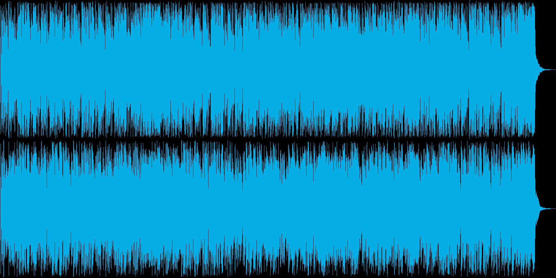 楽しげなトランペット打楽器ラテン系の再生済みの波形