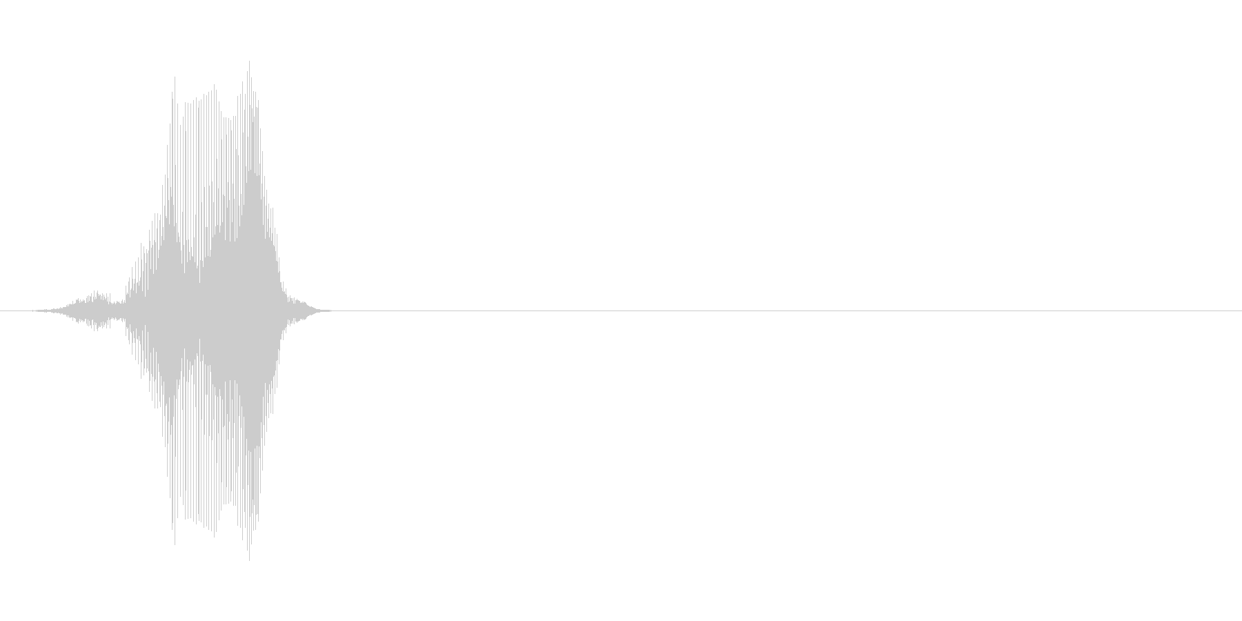 100(ひゃっ)の未再生の波形
