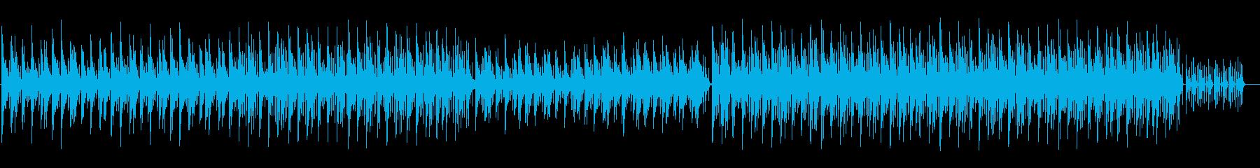 おしゃれで落ち着いたピアノ曲の再生済みの波形