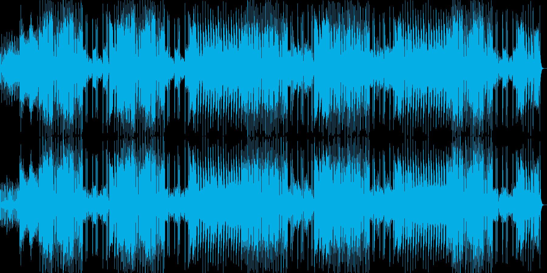 明るく楽しいメロディのポップスの再生済みの波形