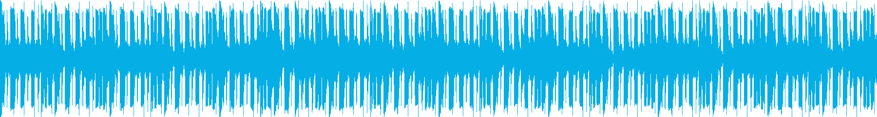 アーバンな雰囲気のループBGMの再生済みの波形