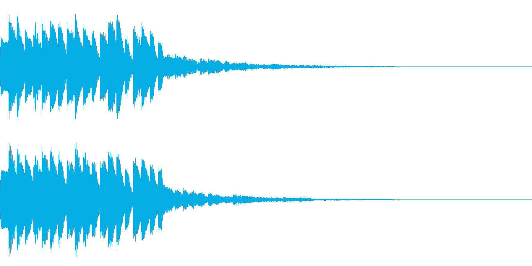 テロップ音01の再生済みの波形
