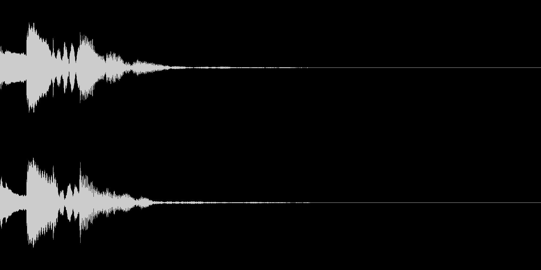 メール着信音風 ロゴ ピコピコンの未再生の波形