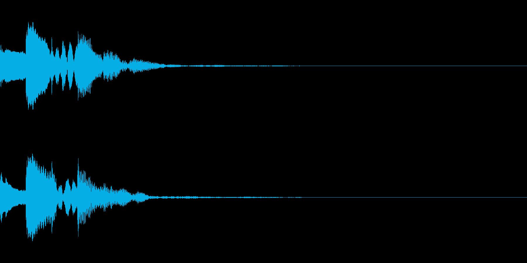 メール着信音風 ロゴ ピコピコンの再生済みの波形