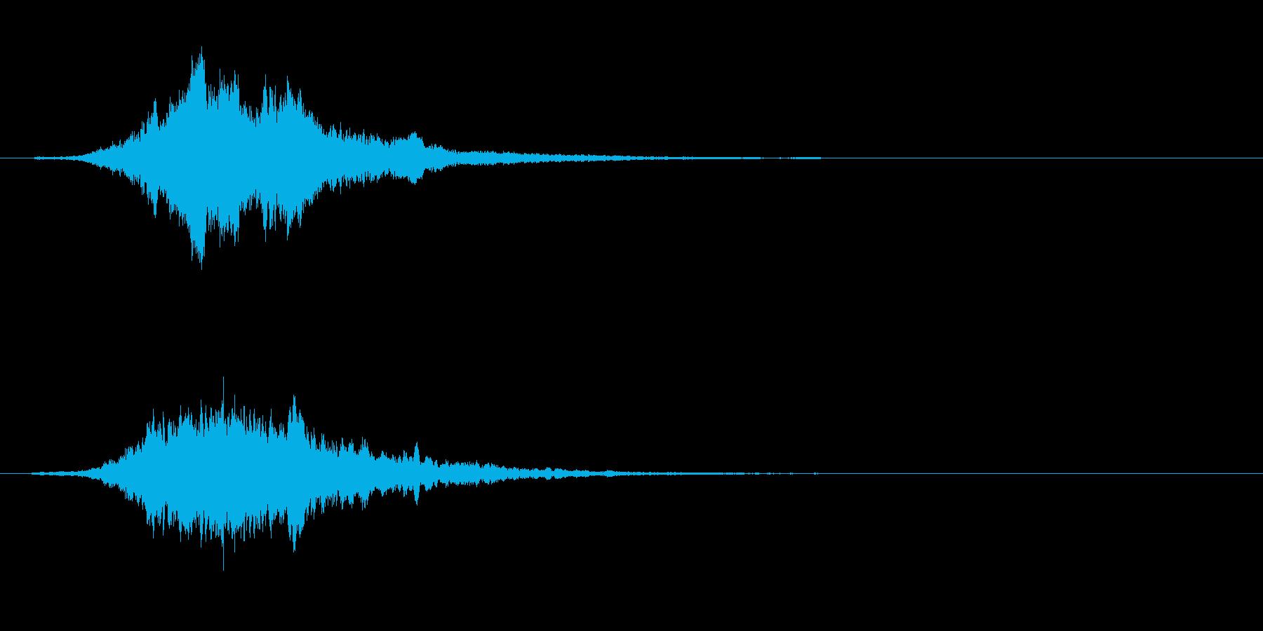 ホラー系のPad(恐怖演出)の再生済みの波形