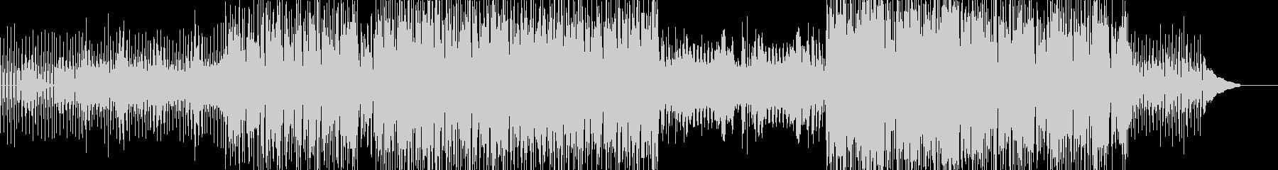 シンセとピアノによる神妙な雰囲気のテクノの未再生の波形