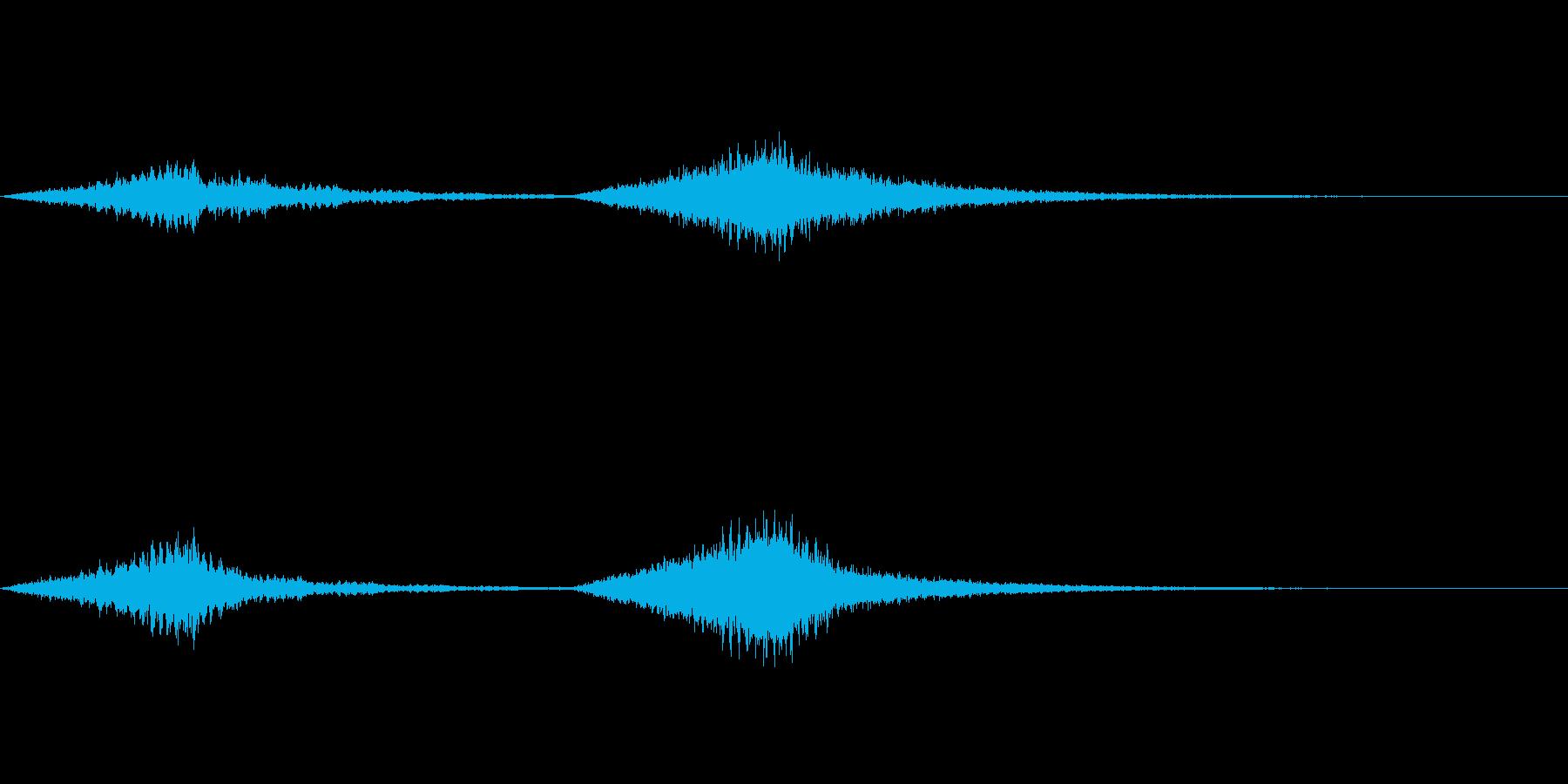 怖い音08の再生済みの波形