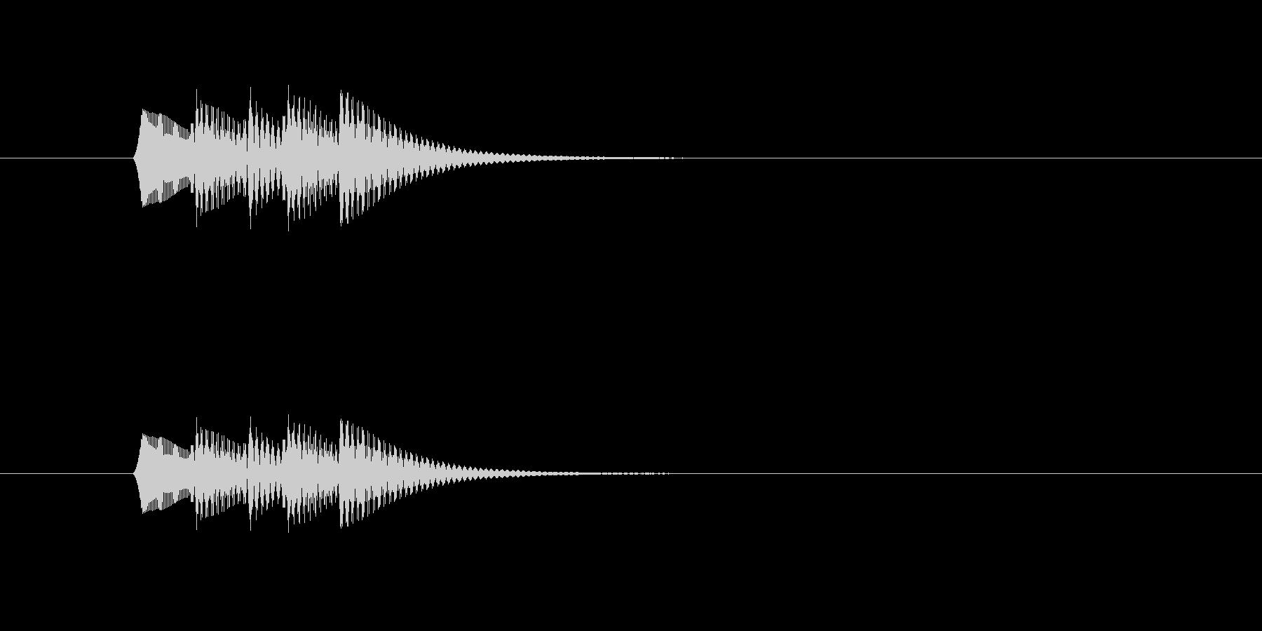 フォンファンフォン(シンプル、短い)の未再生の波形