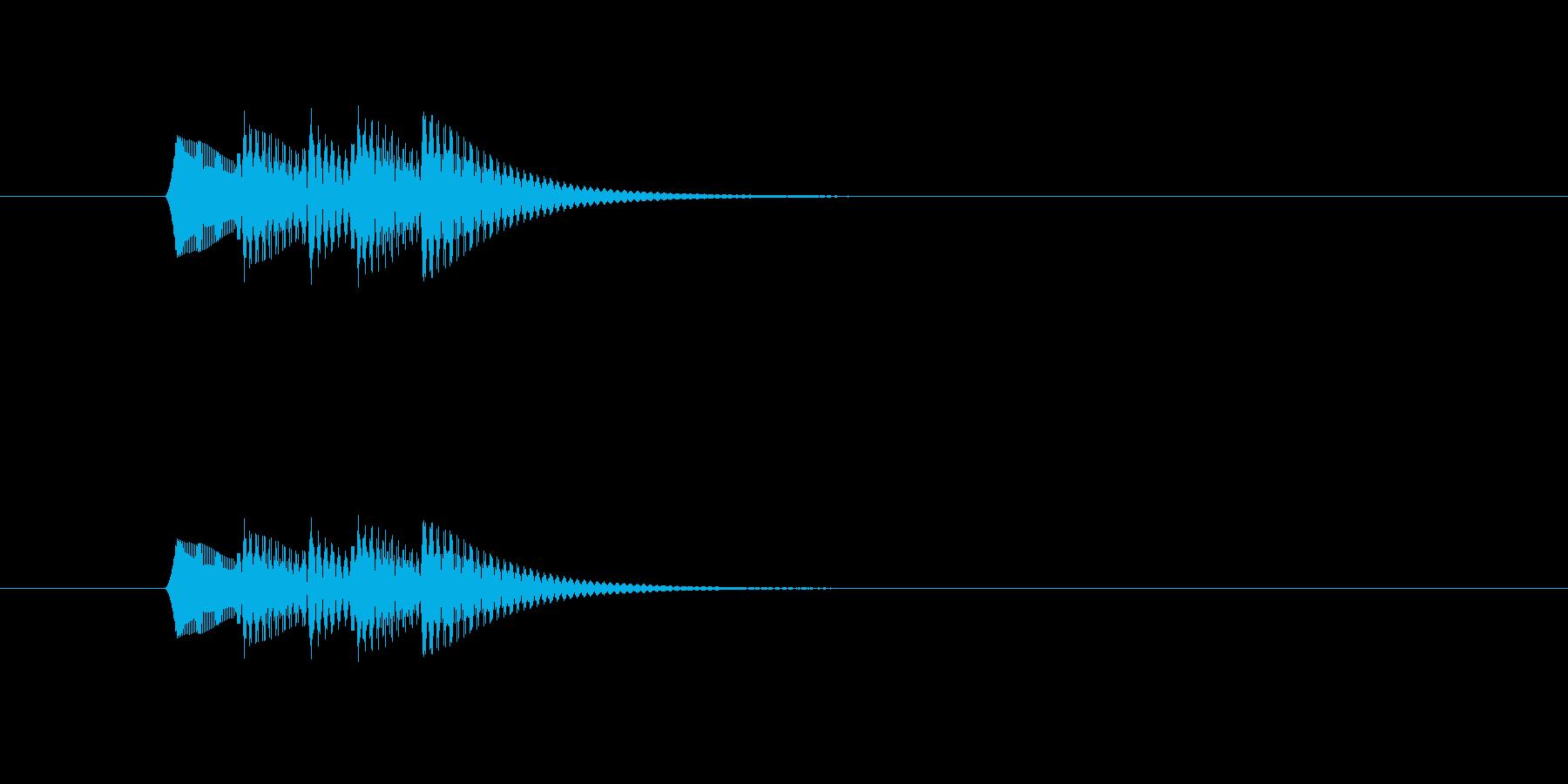 フォンファンフォン(シンプル、短い)の再生済みの波形