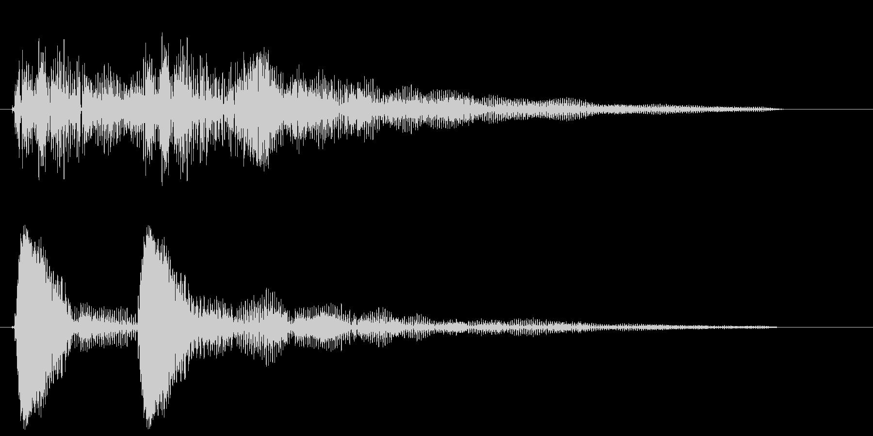 ポッポ〜ン(システム音)の未再生の波形