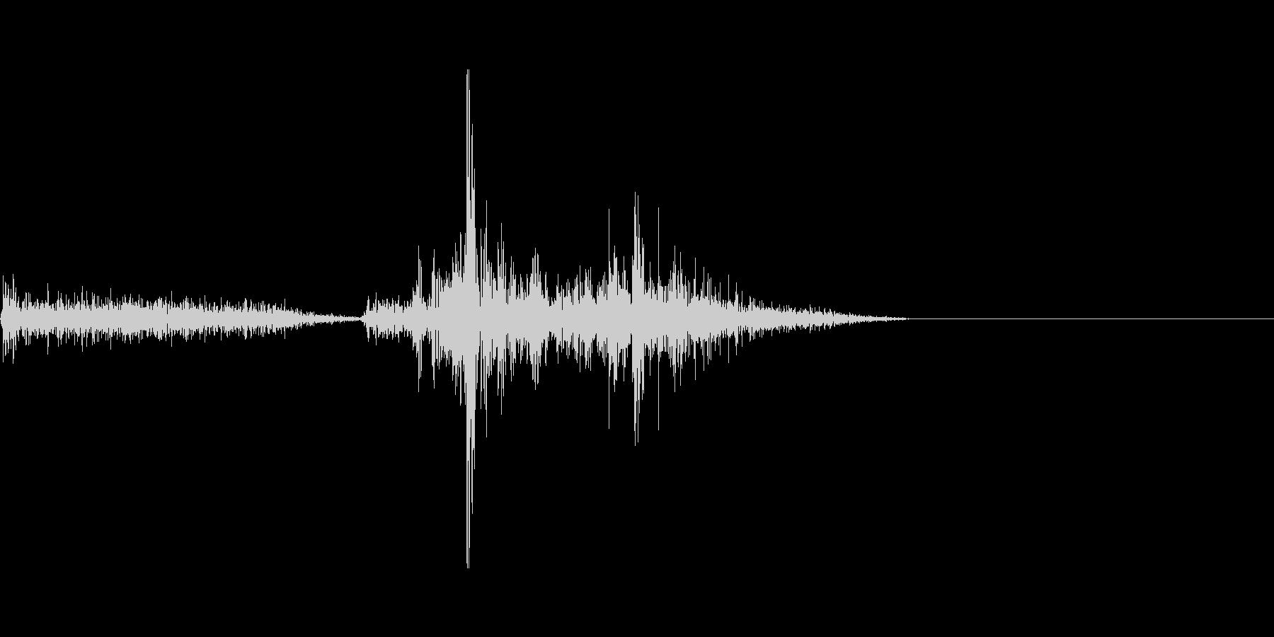 シュトッ(置く)の未再生の波形