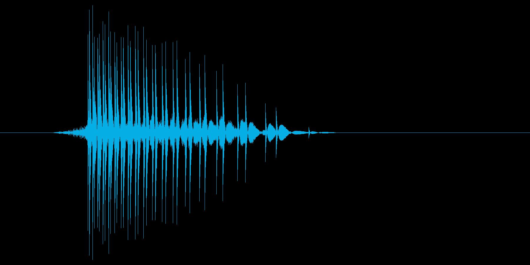 ゲーム(ファミコン風)ヒット音_043の再生済みの波形