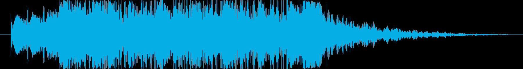 短いテクノのジングルですの再生済みの波形