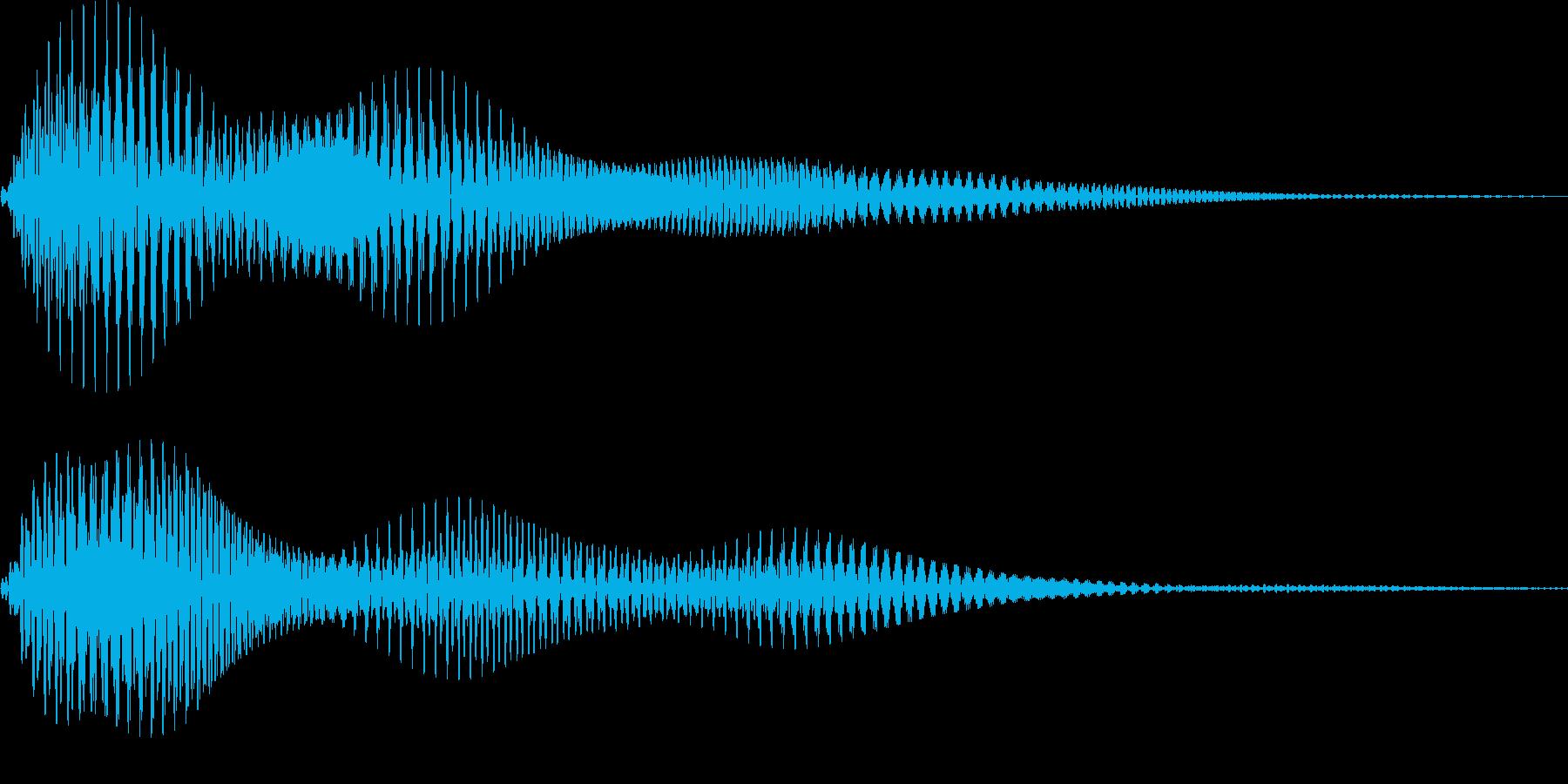 [プッ]カーソル移動/決定音/02の再生済みの波形