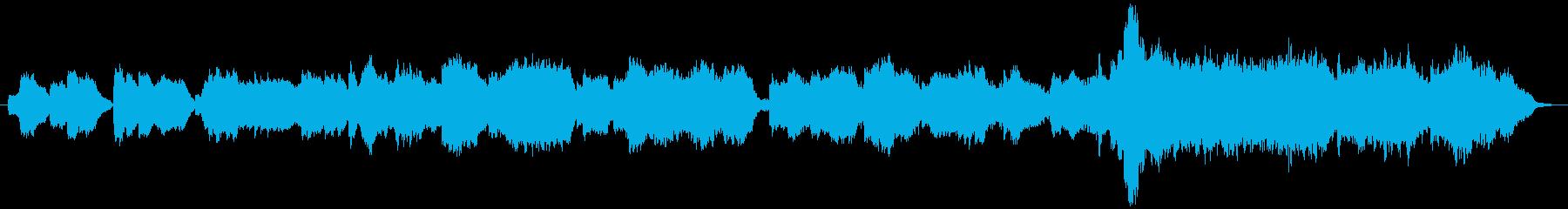 ピアノと木管とストリングスの穏やかな曲の再生済みの波形