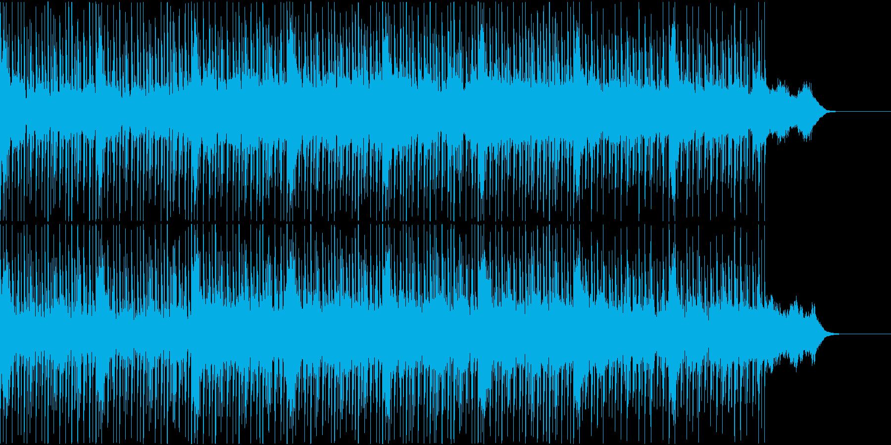 宇宙的なエレクトロ調BGMの再生済みの波形