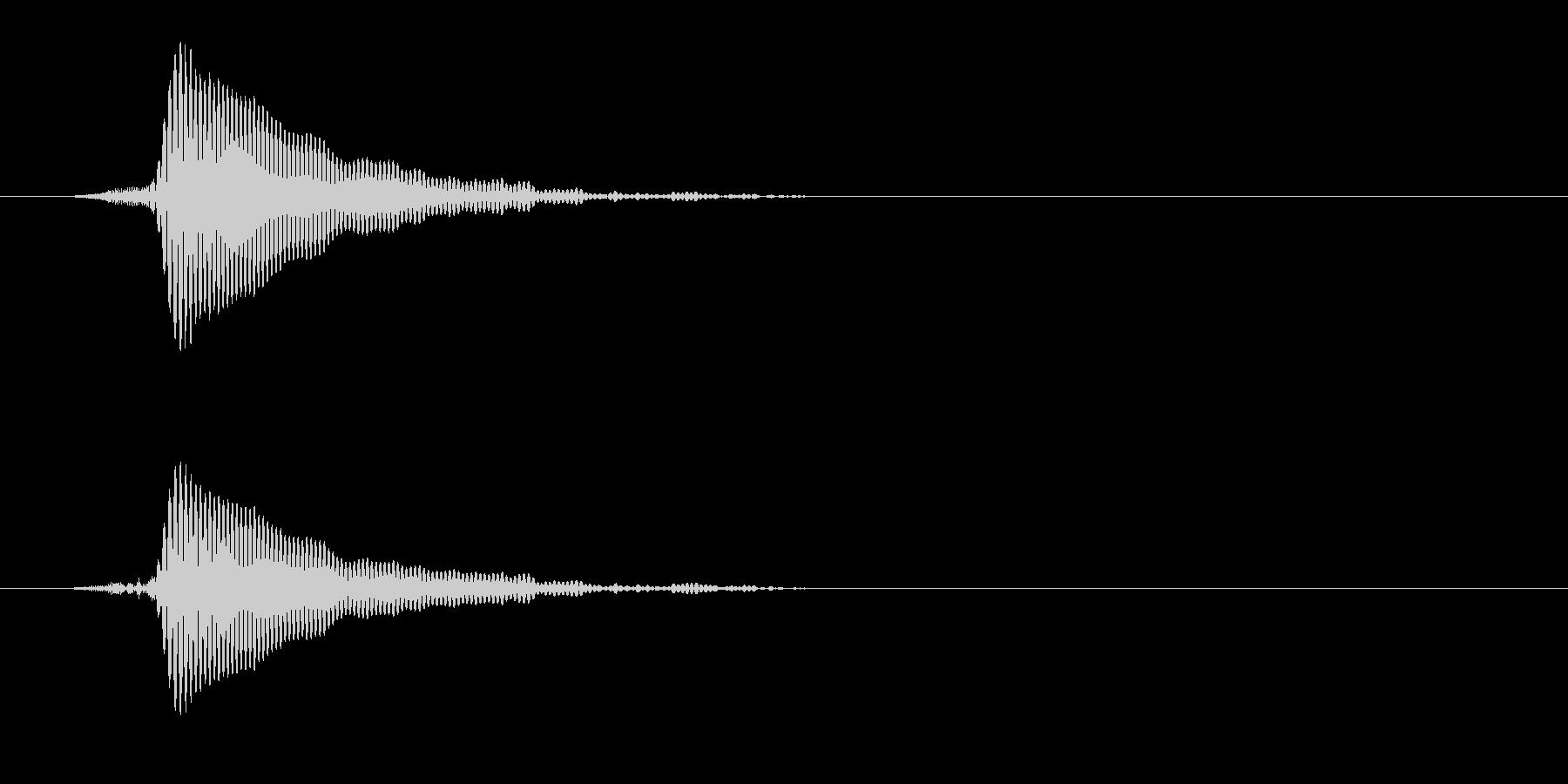 コルクを抜く(ポン)の未再生の波形