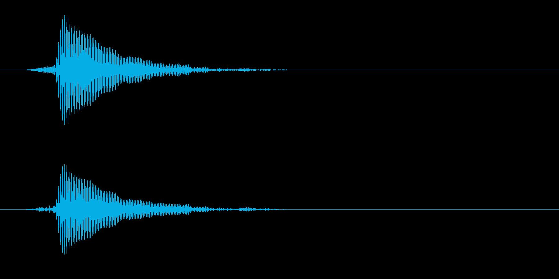 コルクを抜く(ポン)の再生済みの波形