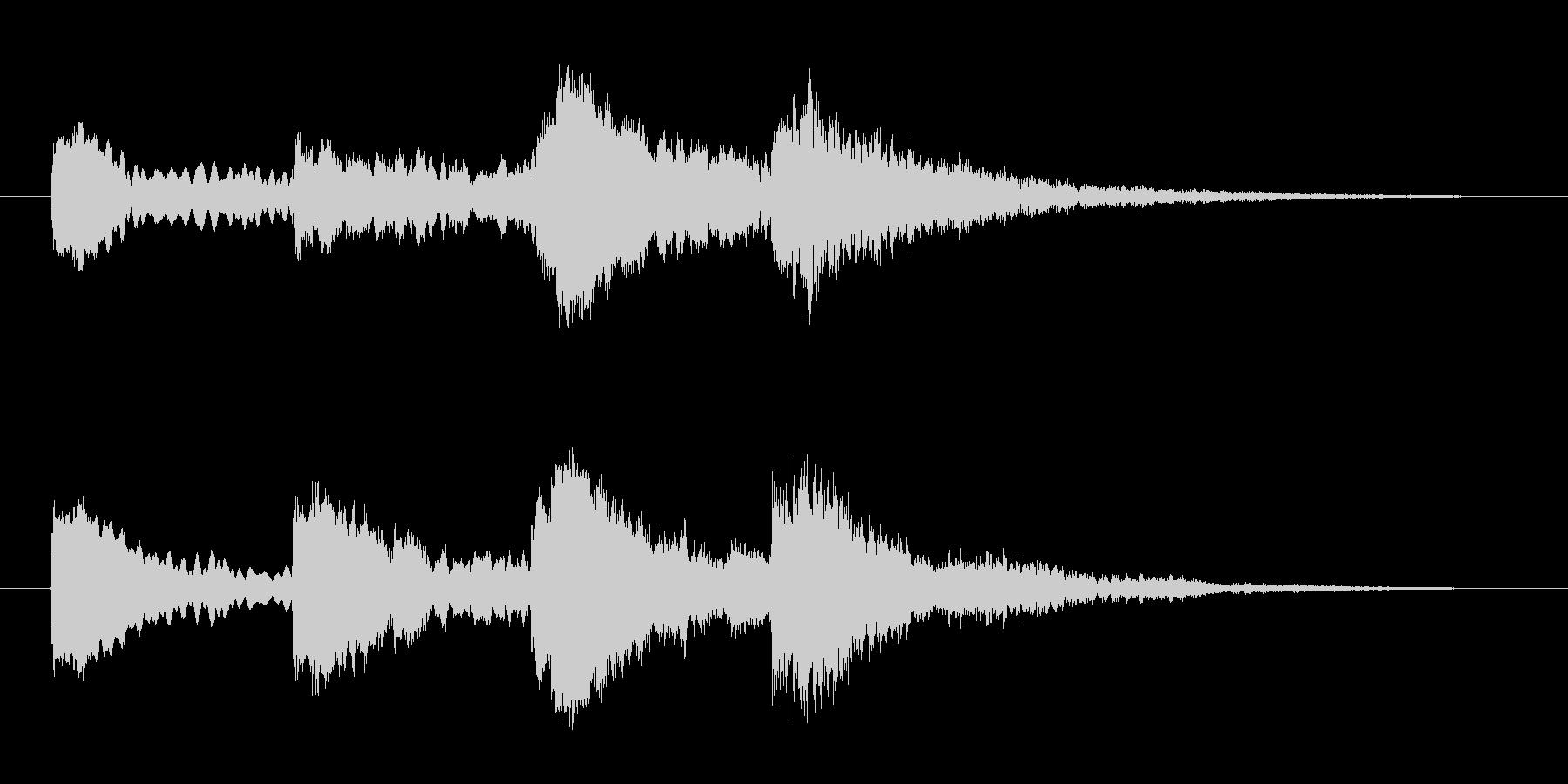 ホラー効果音 ピアノ 異変 察知 怪しいの未再生の波形