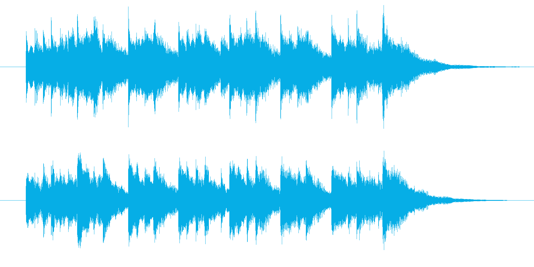 発車ベル、発車メロディの再生済みの波形