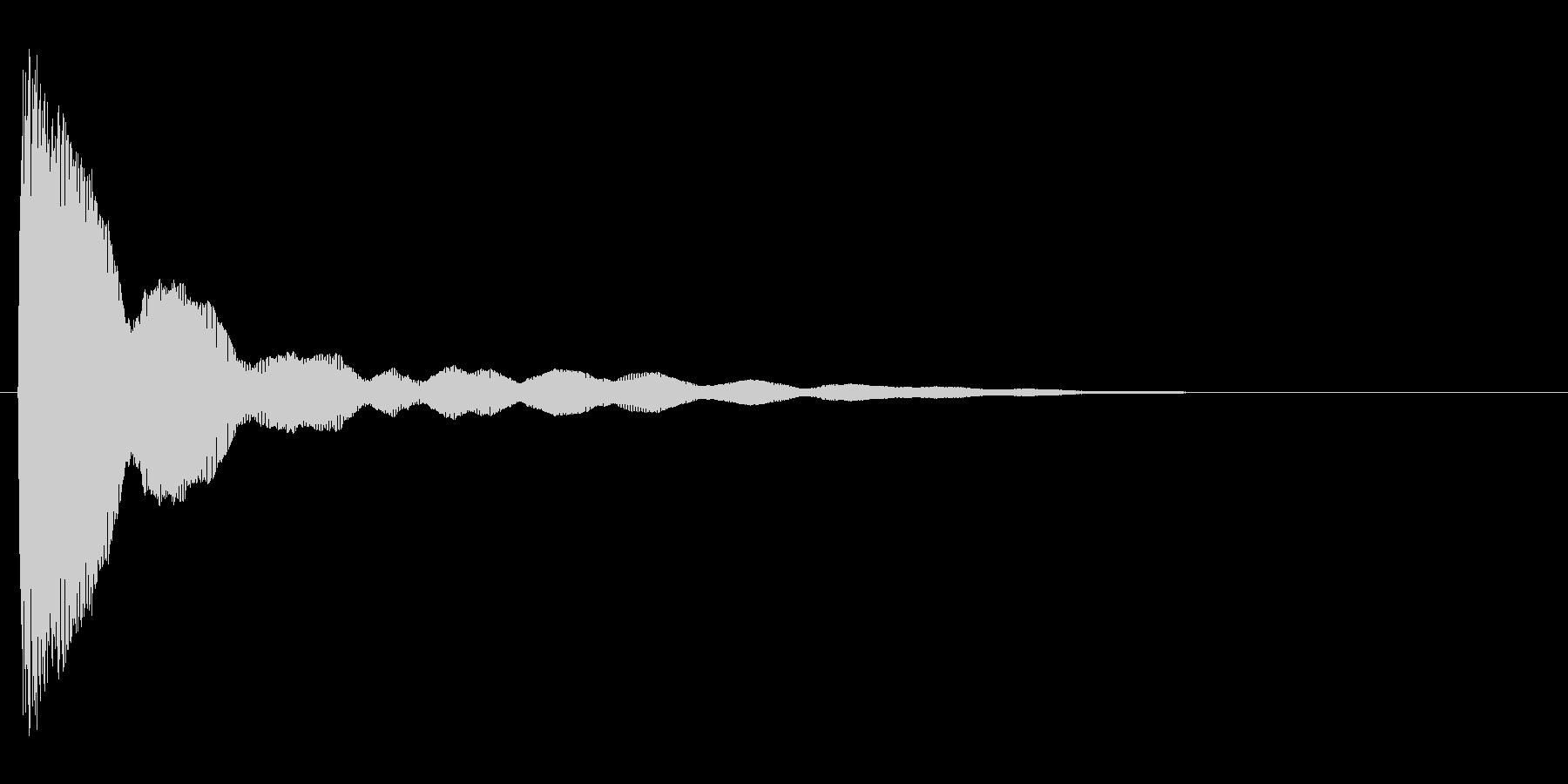 コミカルなバネのような効果音(high)の未再生の波形
