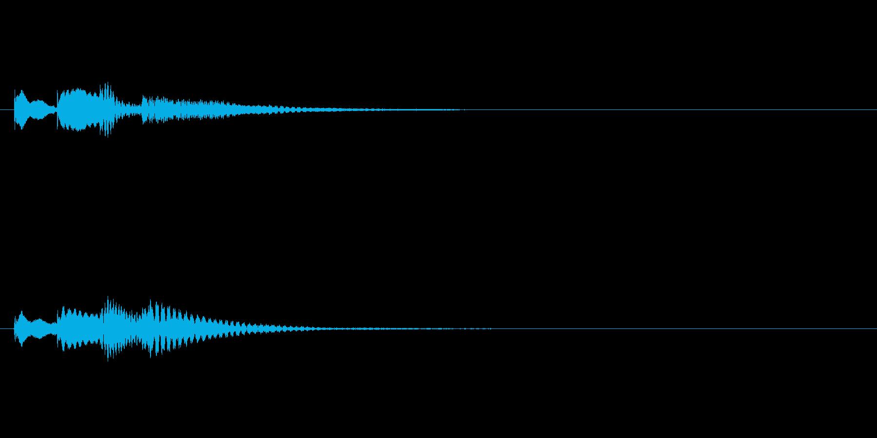 か↑らららん↓の再生済みの波形