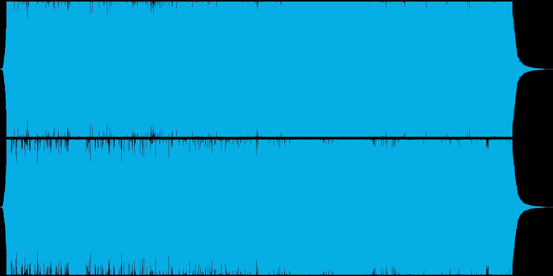 大編成の鼓笛隊のイメージ。行進曲風の再生済みの波形