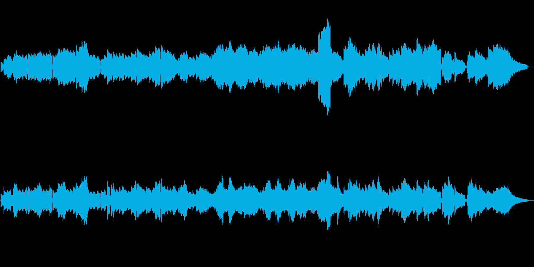 甲子園の学校紹介のバックで流れるような曲の再生済みの波形