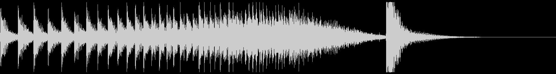 ドコドコ…ドドン!和太鼓ロール/ミドル2の未再生の波形