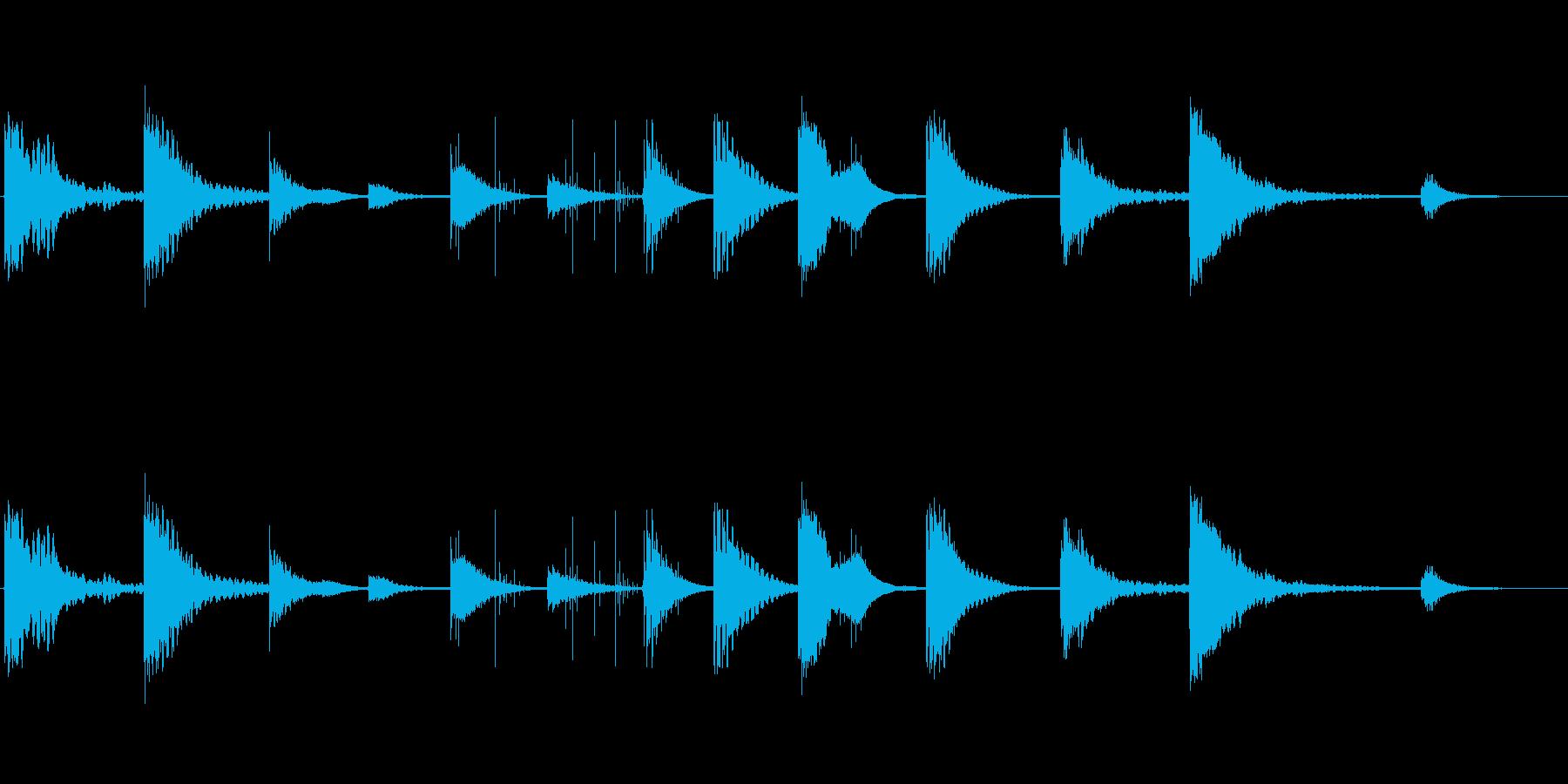 ヒーリングエネルギーを秘めた444Hzの再生済みの波形