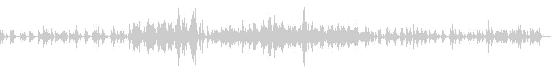 クラシック曲ドビュッシー月の光オルゴールの未再生の波形