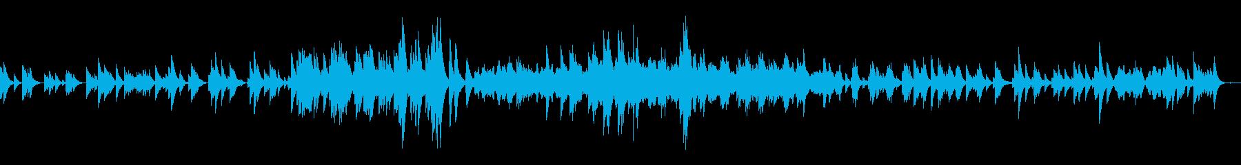 クラシック曲ドビュッシー月の光オルゴールの再生済みの波形
