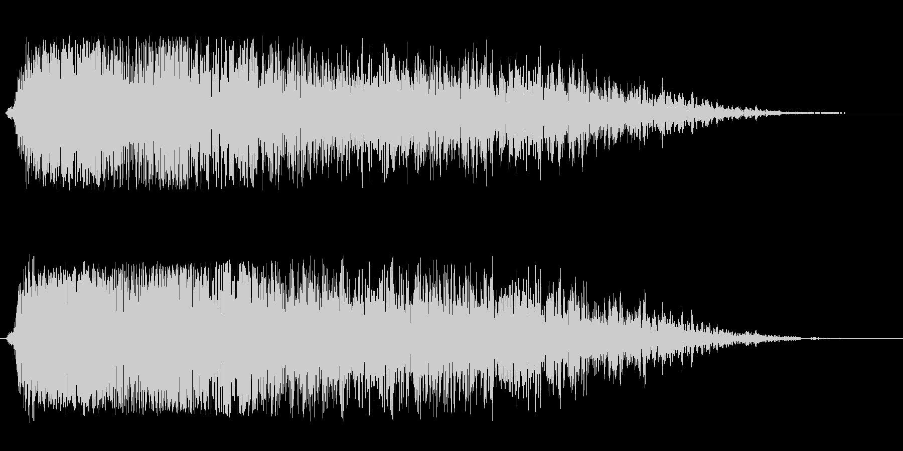 工場のコンプレッサー音の未再生の波形