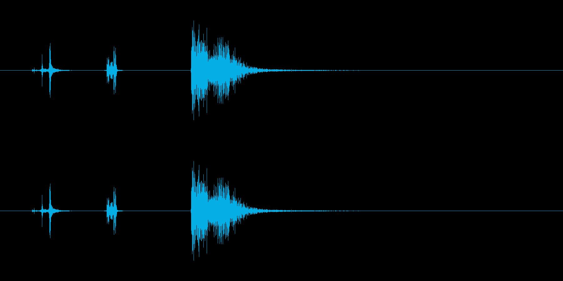 攻撃音(拳銃)の再生済みの波形