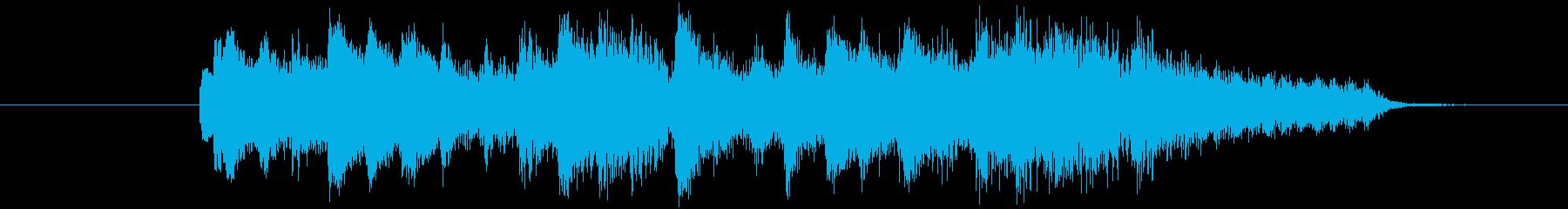 哀愁の漂うピアノジングルの再生済みの波形