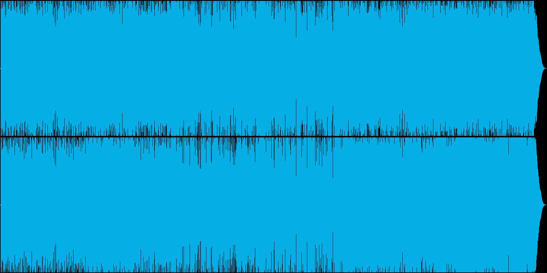 エレキギターとサックスのブルースロックの再生済みの波形