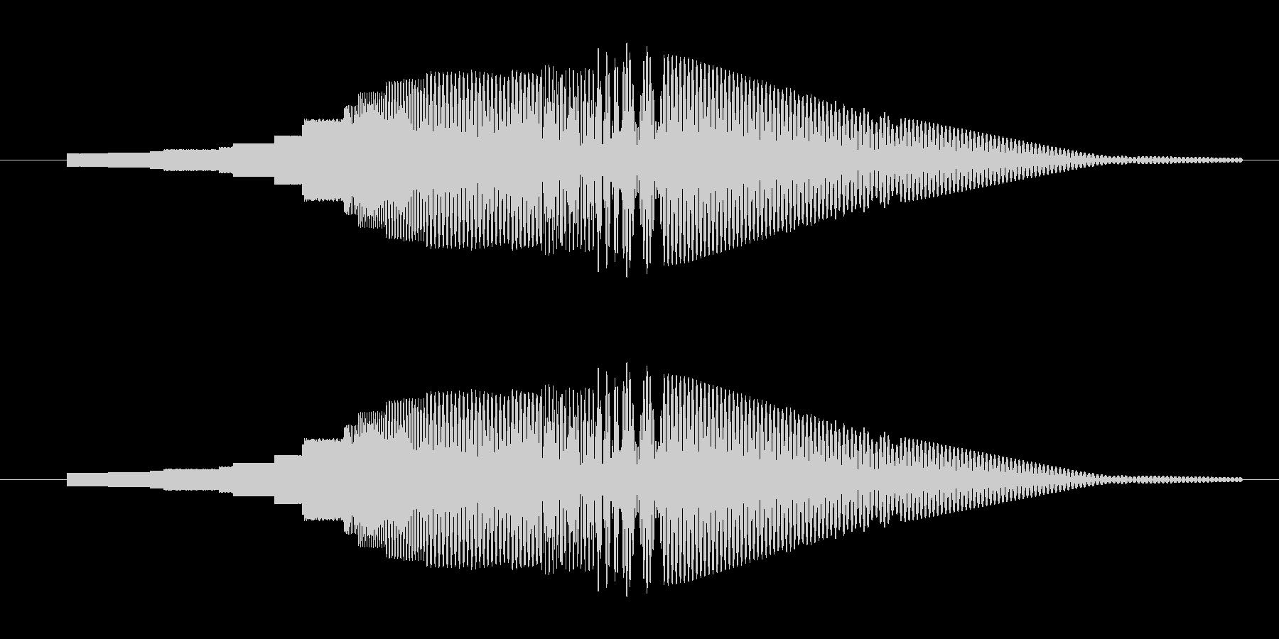 一昔前のSFっぽいボタン音の未再生の波形
