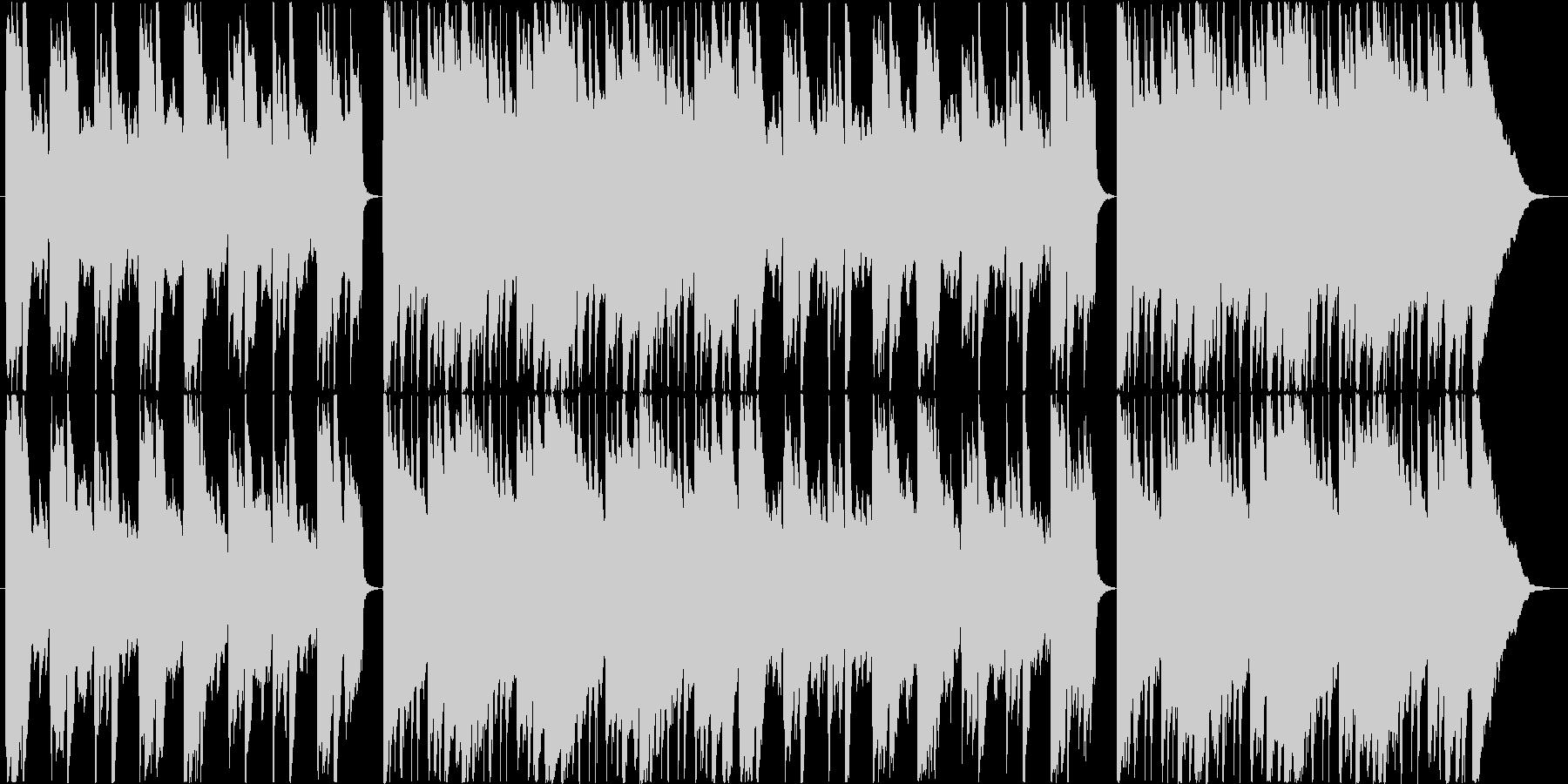 ピアノがメインの優しいアコースティックの未再生の波形