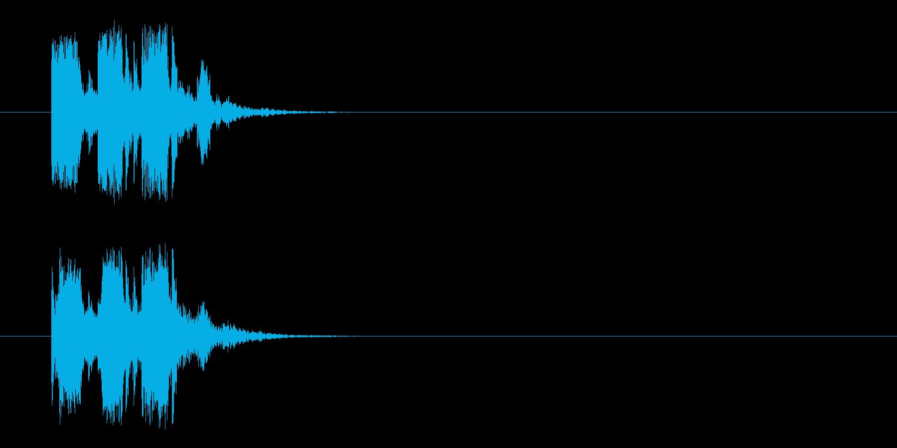 ジングル/転がり落ちる(コミカル)の再生済みの波形
