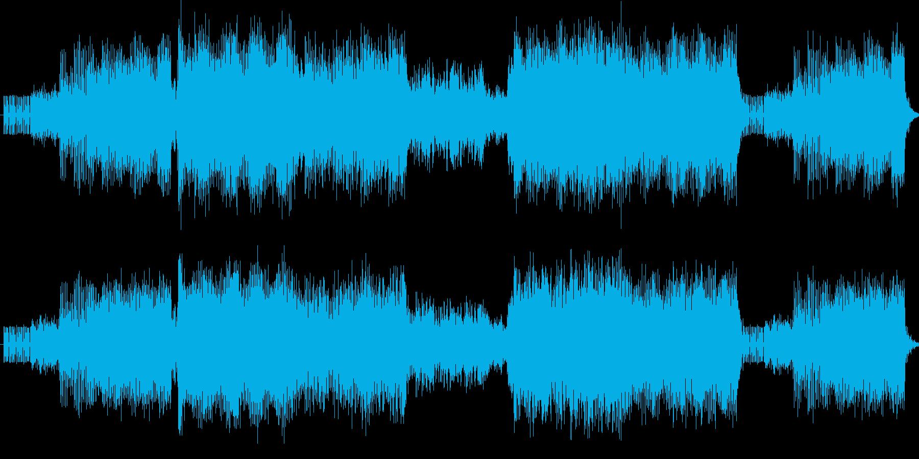 原曲よりも遅めでスウィングさせたハウス…の再生済みの波形