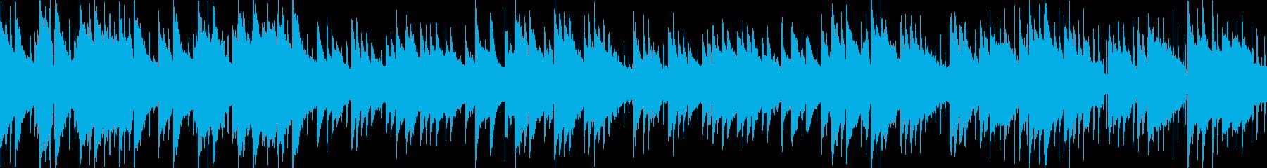 穏やかで優しい映像用音楽の再生済みの波形