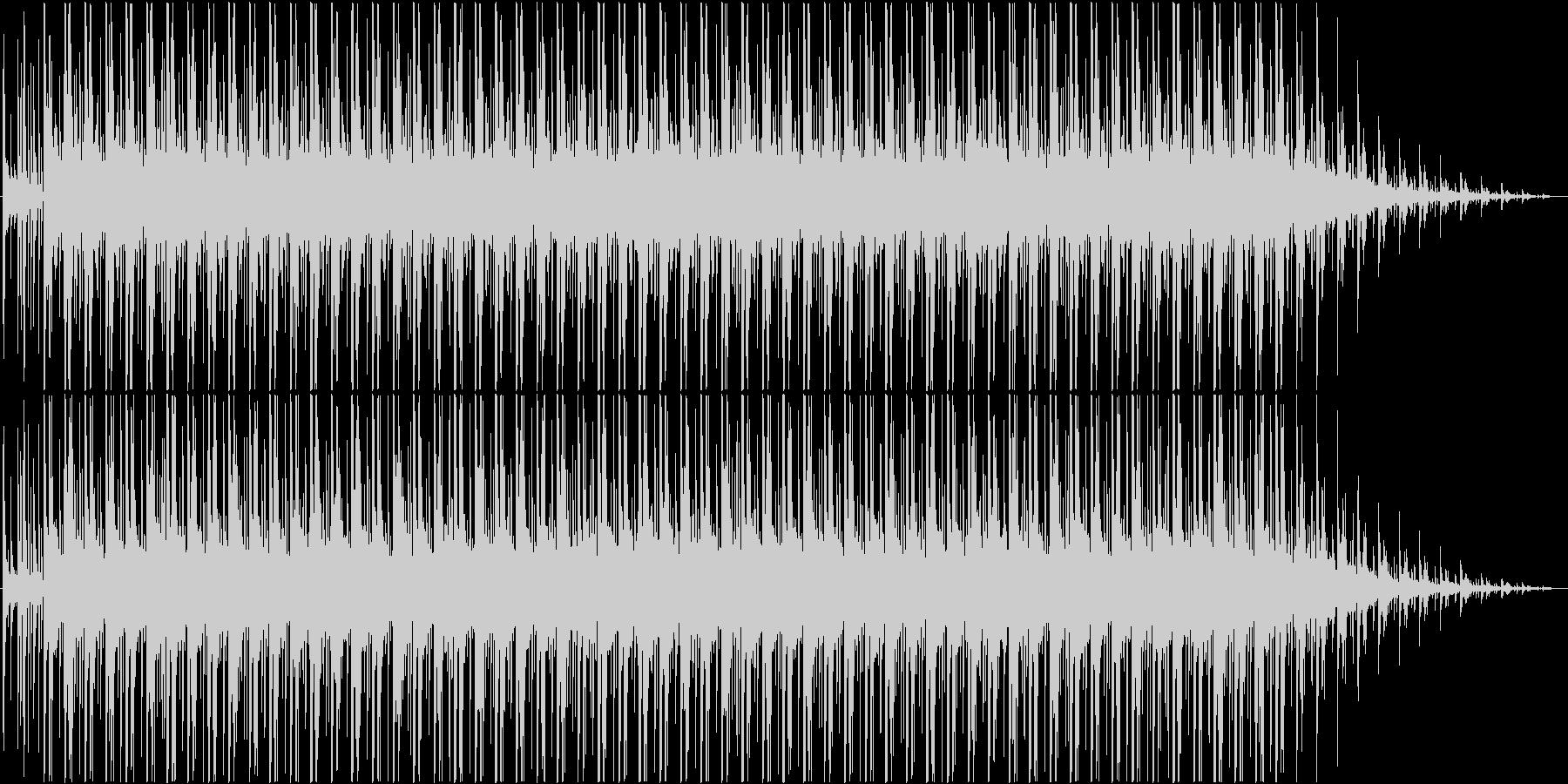 緊張感の中のシリアスなBGMの未再生の波形