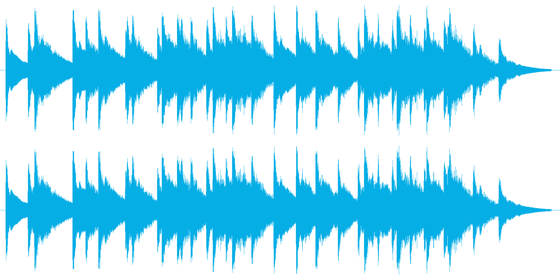 キラキラキラ(高い連続した金属音)の再生済みの波形
