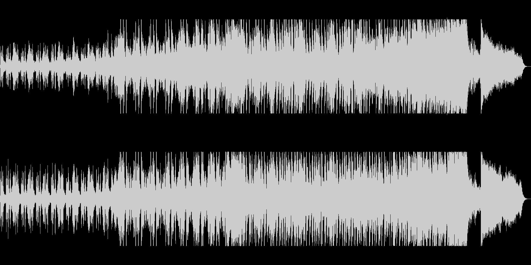 不安と希望混じりの壮大なシンセサイザー曲の未再生の波形