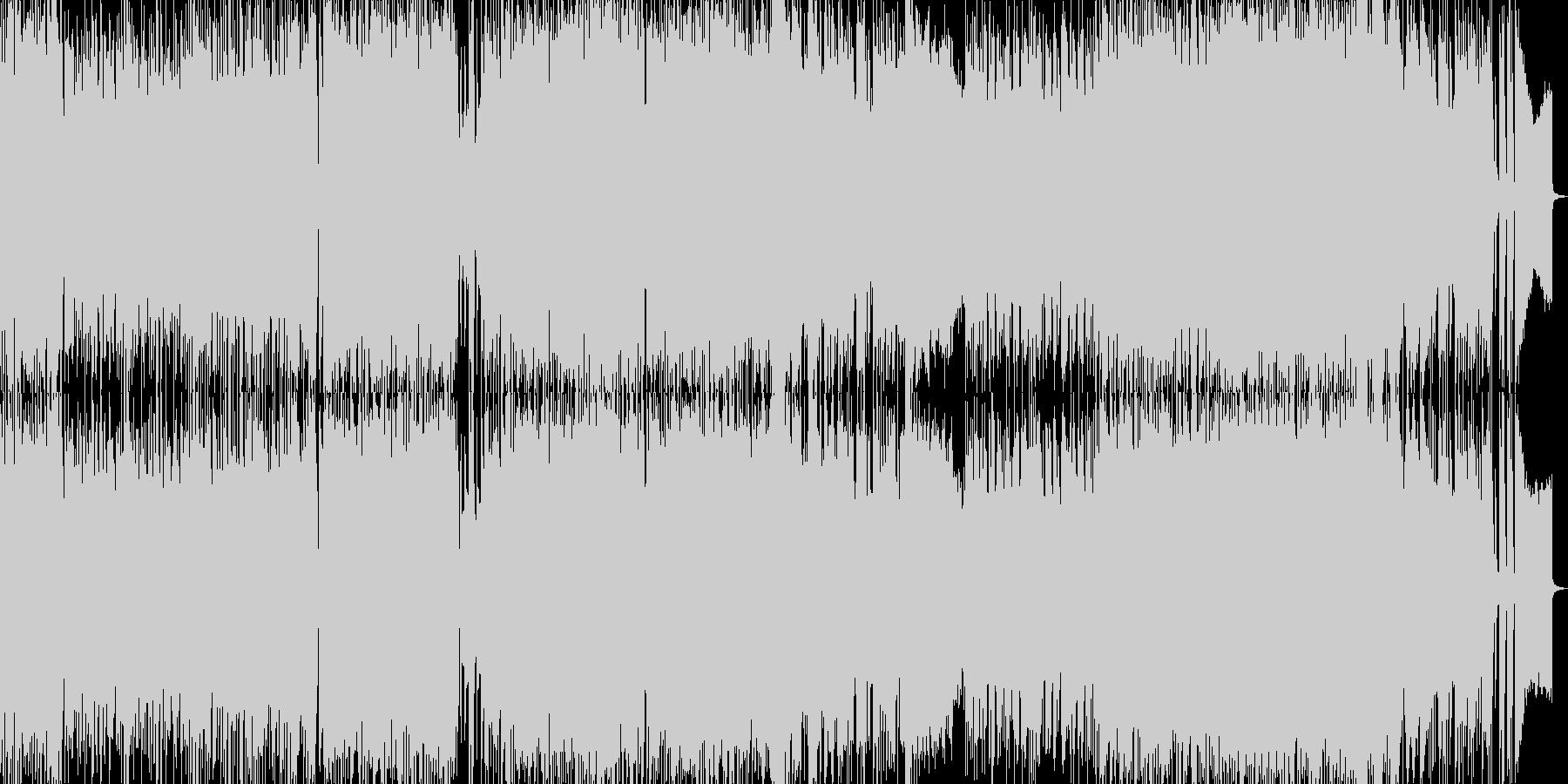 重厚なデジタルメタルの未再生の波形