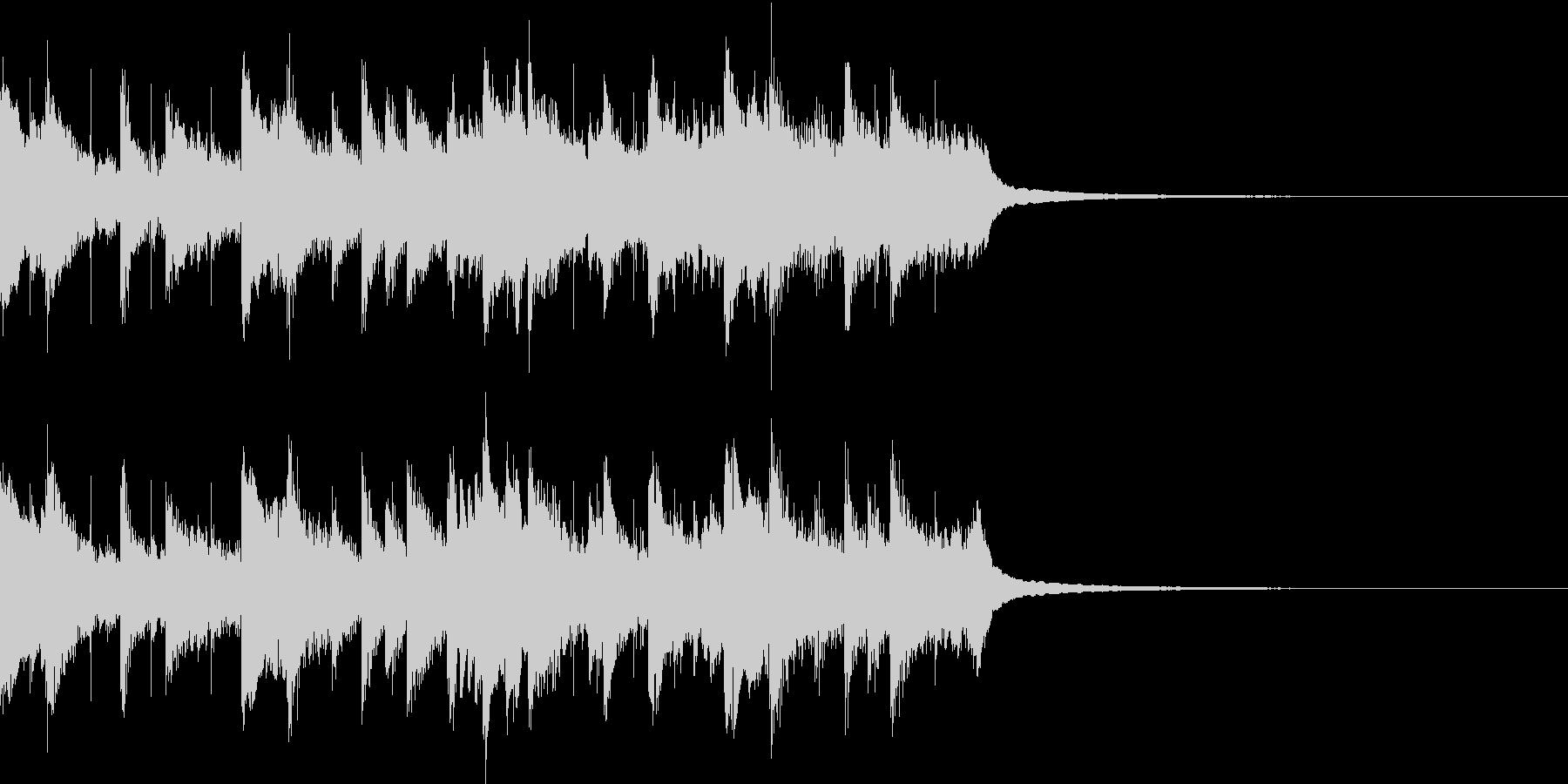 アコギ、ピアノがメインの爽やかジングルの未再生の波形